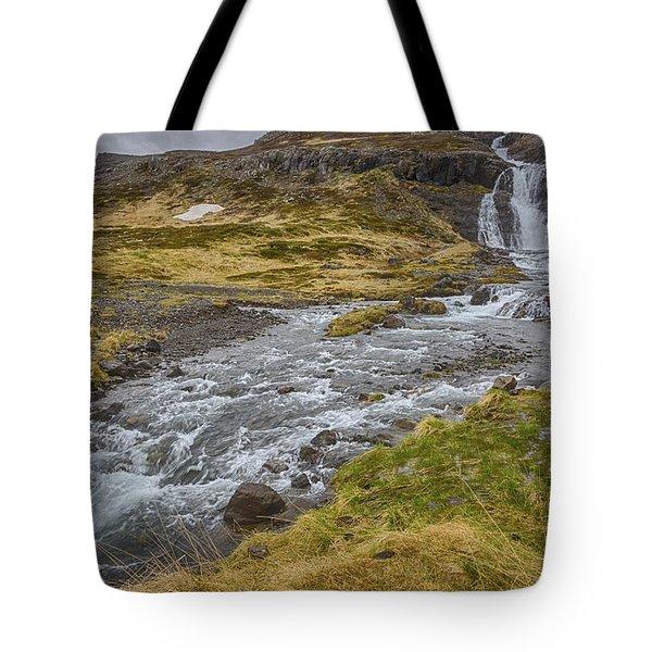 Iceland Fjord Tote Bag