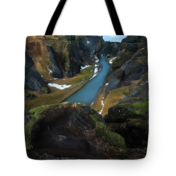 Iceland Gorge Tote Bag