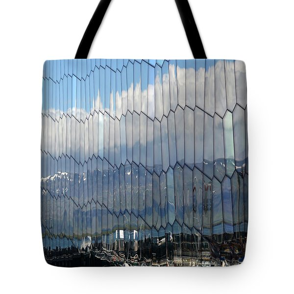 Tote Bag featuring the photograph Iceland Harbor And Mountains by Joe Bonita