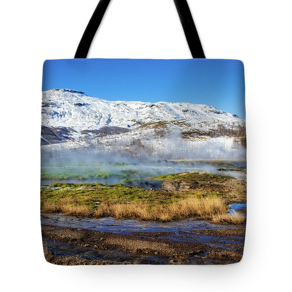 Tote Bag featuring the photograph Iceland Landscape Geothermal Area Haukadalur by Matthias Hauser