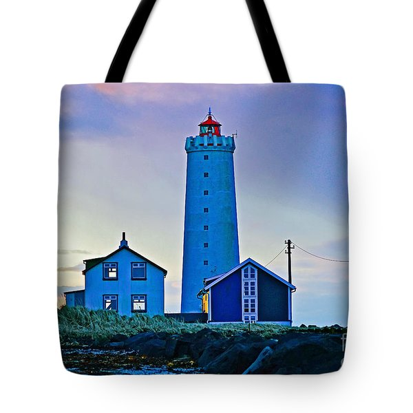 Iceland Lighthouse Tote Bag