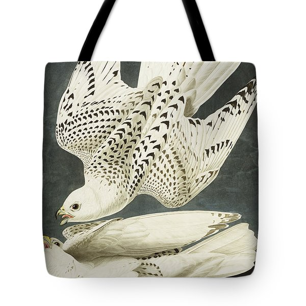 Iceland Or Jer Falcon Tote Bag by John James Audubon