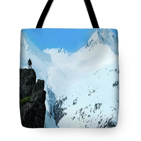Iceland Snow Covered Mountains Tote Bag