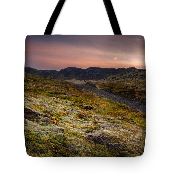 Iceland Sunset Tote Bag by Chris McKenna
