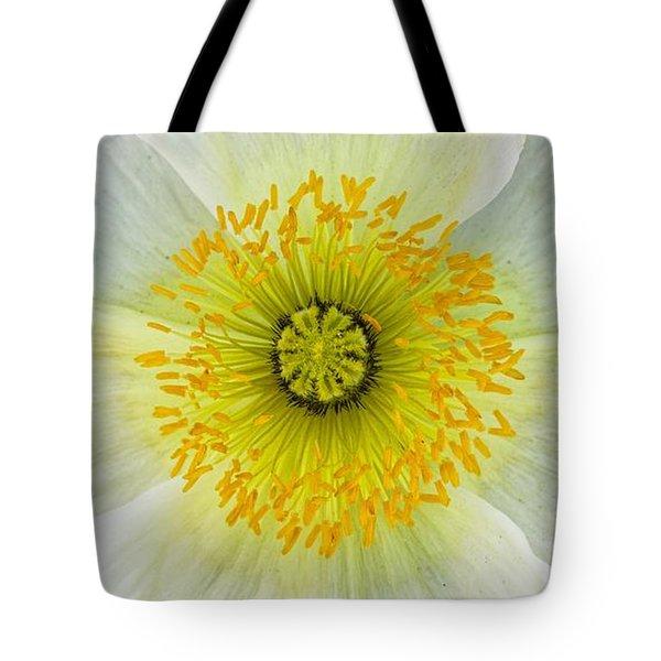 Iceland White Poppy Tote Bag