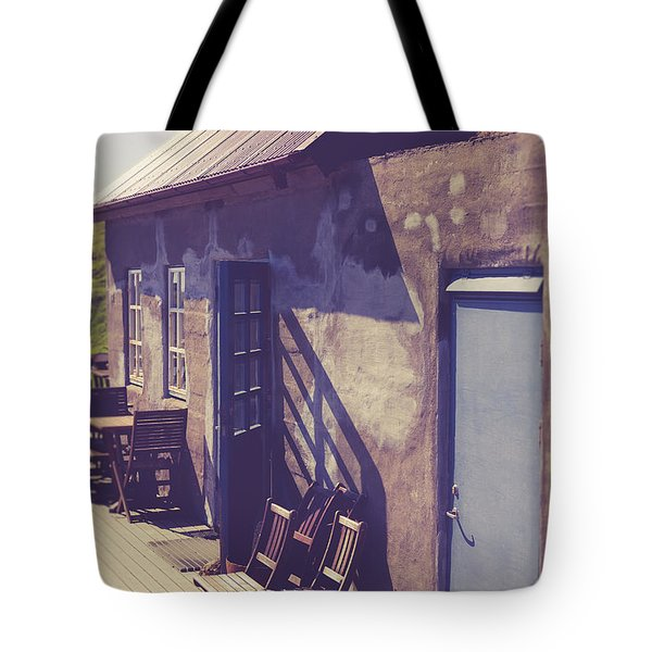 Tote Bag featuring the photograph Icelandic Cafe by Edward Fielding