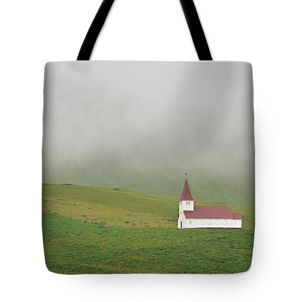 Tote Bag featuring the photograph Icelandic Chapel by Joe Bonita