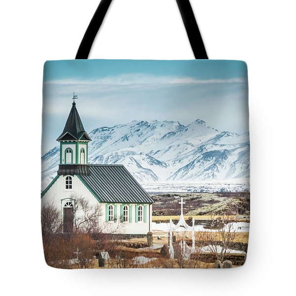 Icelandic Church, Thingvellir Tote Bag