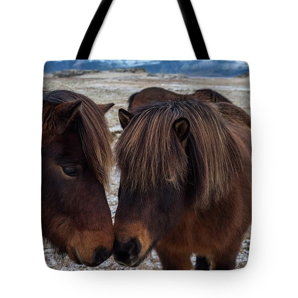 Icelandic Horses Couple Tote Bag