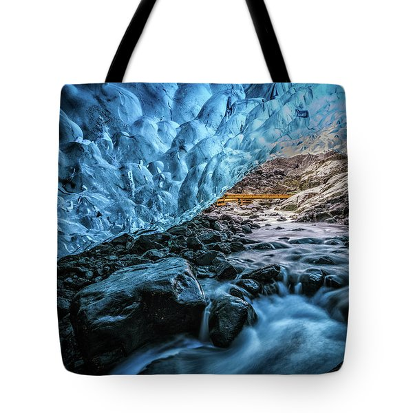 Icelandic Ice Cave Tote Bag