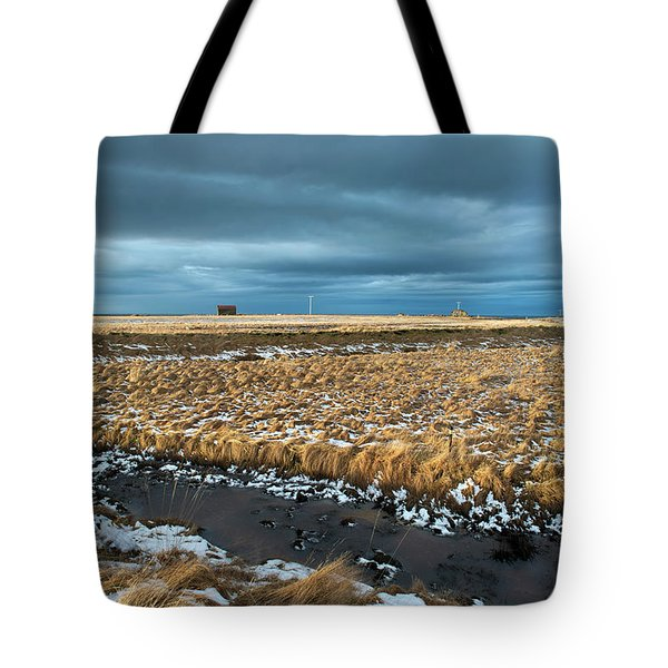 Tote Bag featuring the photograph Icelandic Landscape by Dubi Roman