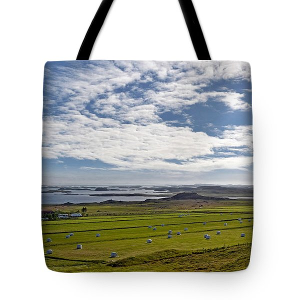 Tote Bag featuring the photograph Icelandic Panorama by Joe Bonita