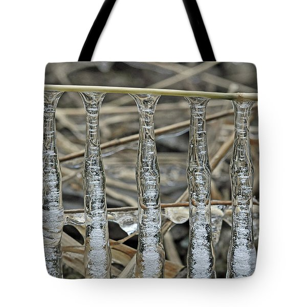 Icicles On A Stick Tote Bag by Glenn Gordon