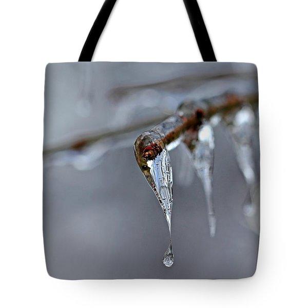 Icicle Teardrop Tote Bag