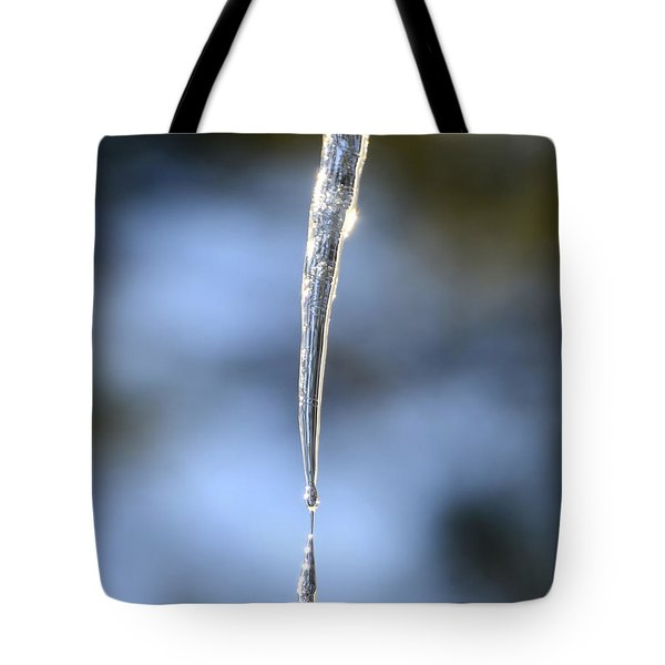 Icicles In Bloom Tote Bag