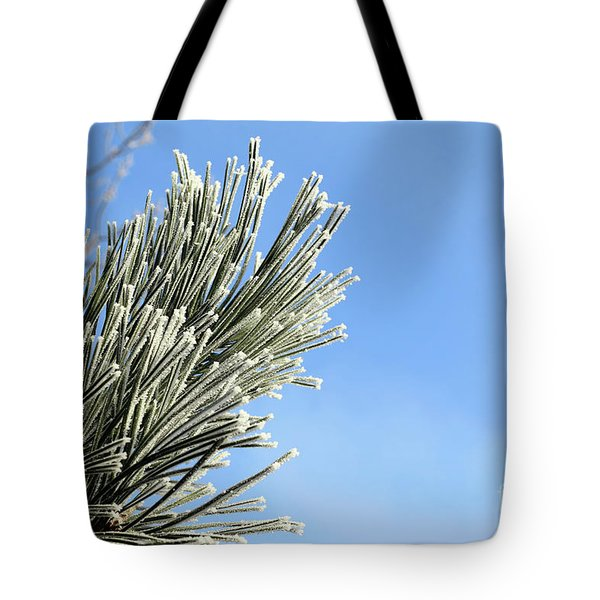 Tote Bag featuring the photograph Icing On The Needles by Michal Boubin