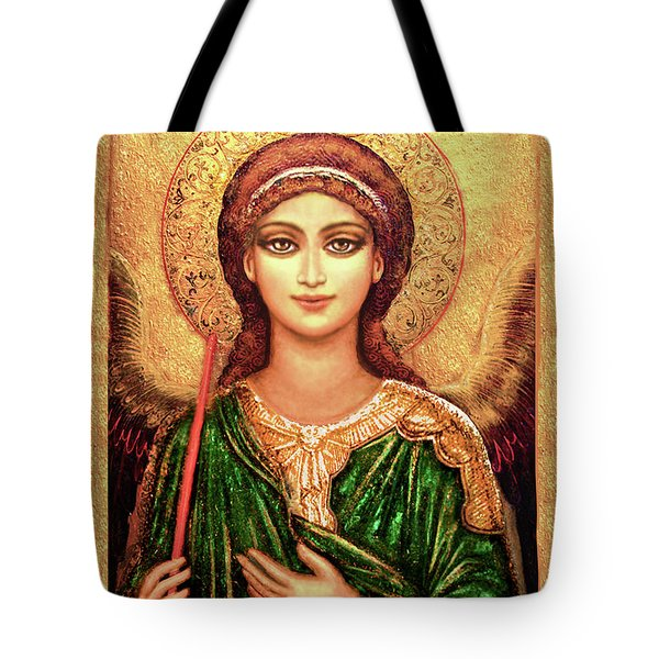 Icon Angel In Green Tote Bag