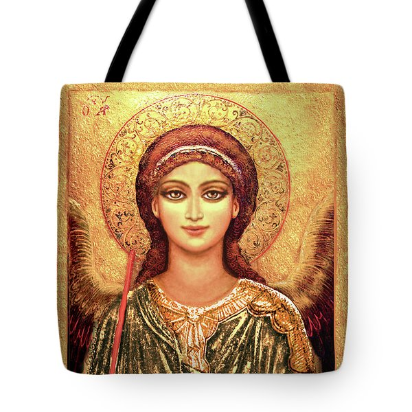 Icon Archangel In Gold Tote Bag
