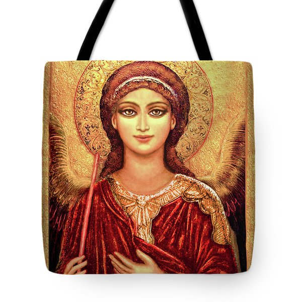 Icon Archangel In Red  Tote Bag