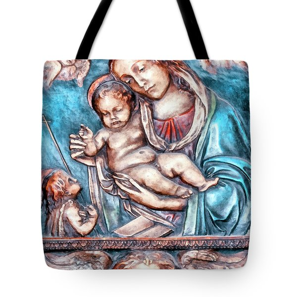 Icon Of Madonna Mother Of God  Tote Bag by Odon Czintos