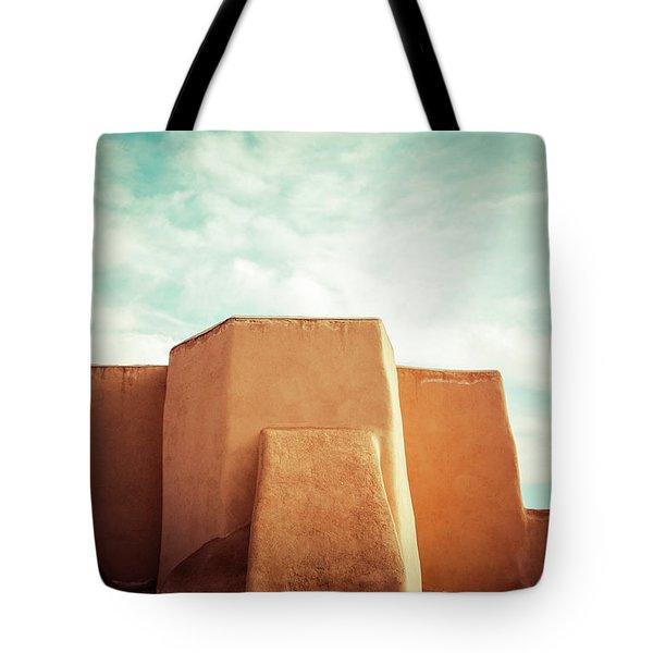 Tote Bag featuring the photograph Iconic Church In Taos by Marilyn Hunt