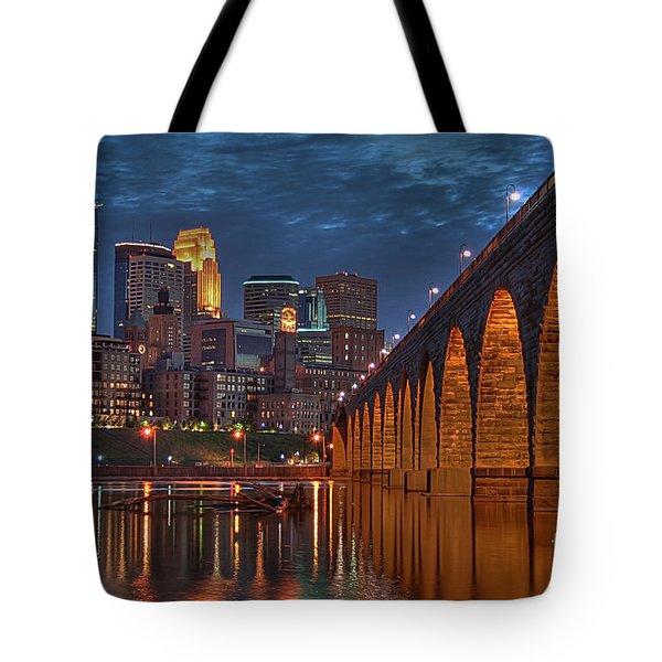 Iconic Minneapolis Stone Arch Bridge Tote Bag