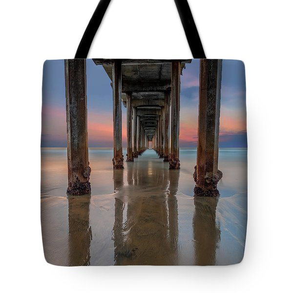 Iconic Scripps Pier Tote Bag