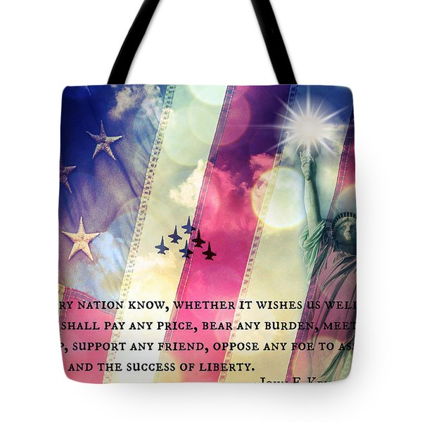 Icons Of Freedom Tote Bag by Aurelio Zucco