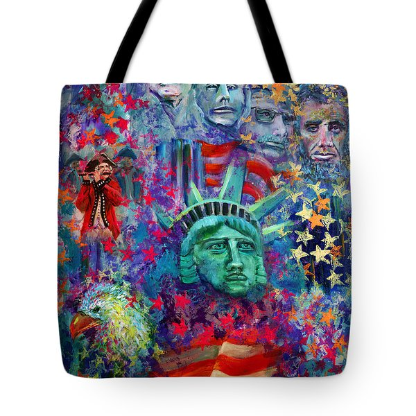 Icons Of Freedom Tote Bag by Peter Bonk