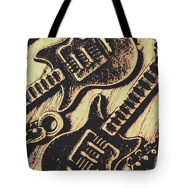 Icons Of Vintage Music Tote Bag