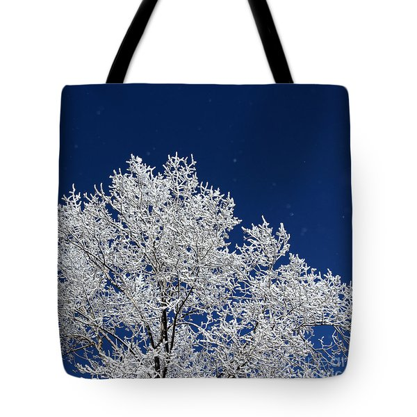 Icy Brilliance Tote Bag