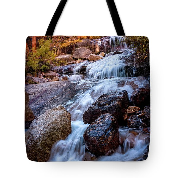 Icy Cascade Waterfalls Tote Bag