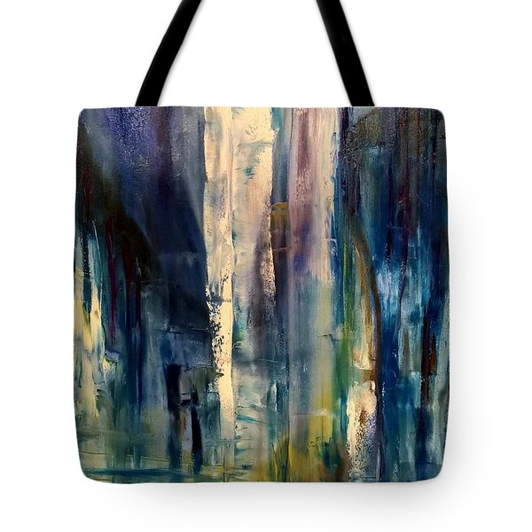 Icy Cavern Abstract Tote Bag