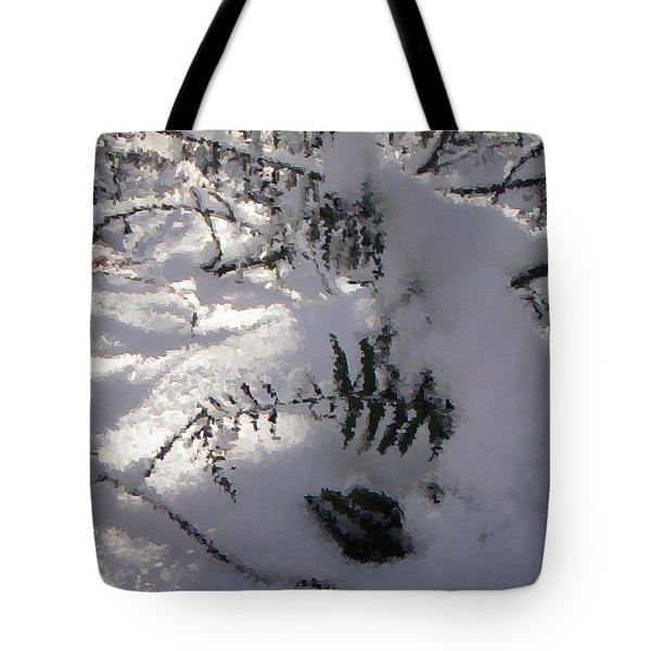 Icy Fern Tote Bag