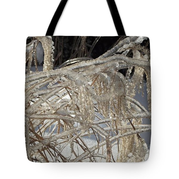 Icy Grass Tote Bag