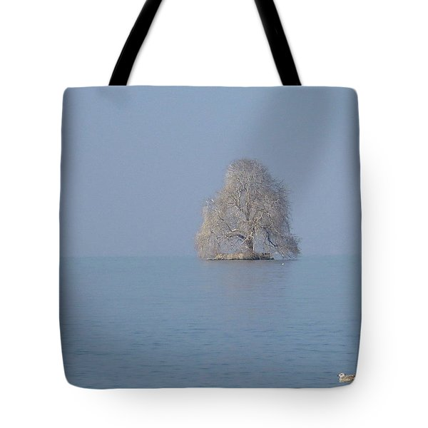 Icy Isolation Tote Bag by Christin Brodie