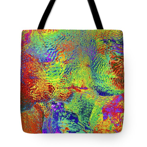 Tote Bag featuring the photograph Icy Kaleidoscope by Tony Beck