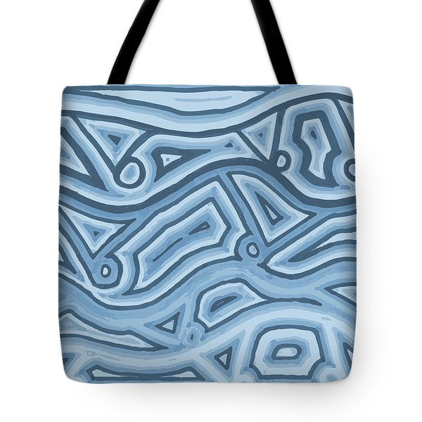 Tote Bag featuring the drawing Icy Layers by Jill Lenzmeier