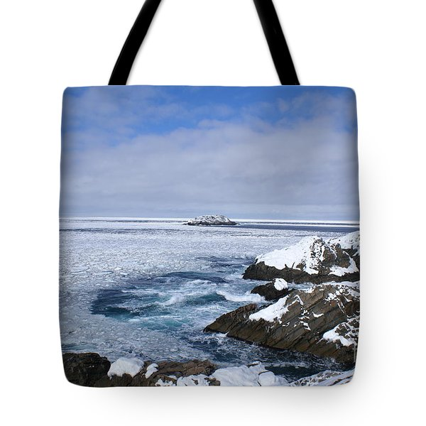 Icy Ocean Slush Tote Bag