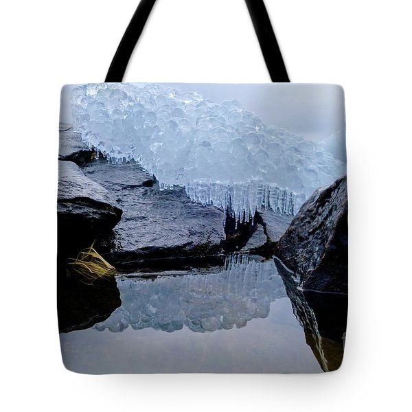 Icy Reflections Tote Bag by Sandra Updyke