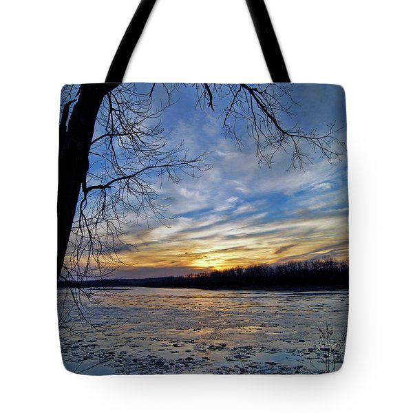 Tote Bag featuring the photograph Icy River by Cricket Hackmann