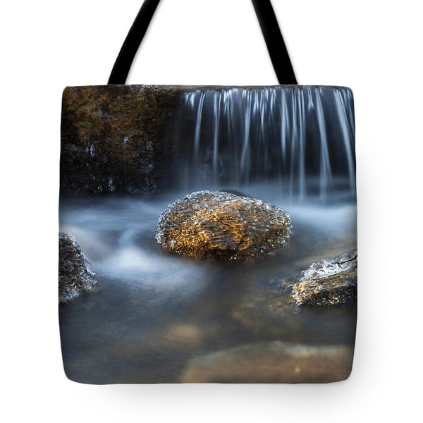 Icy Rocks On The Coxing Kill #1 Tote Bag