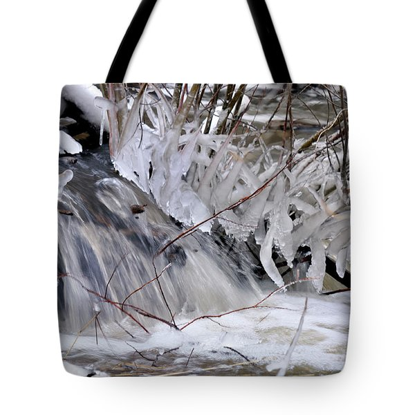 Tote Bag featuring the photograph Icy Spring by Ron Cline