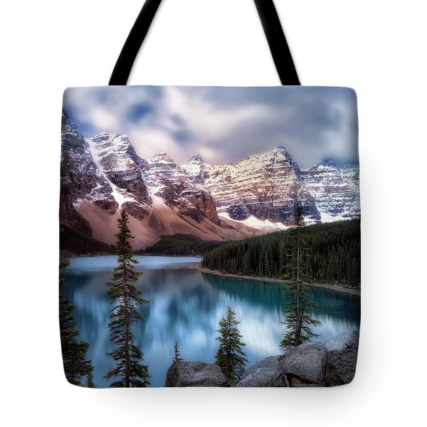 Icy Stillness Tote Bag by Nicki Frates