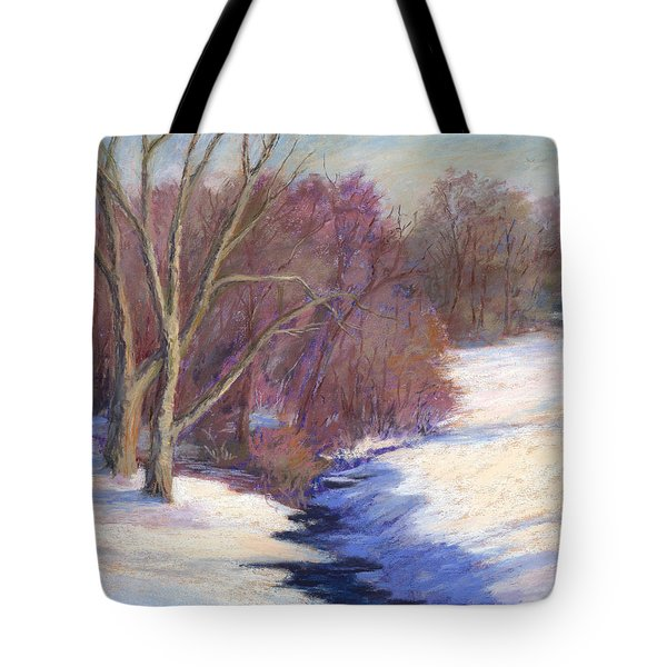 Icy Stream Tote Bag