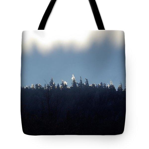 Icy Sunrise Tote Bag