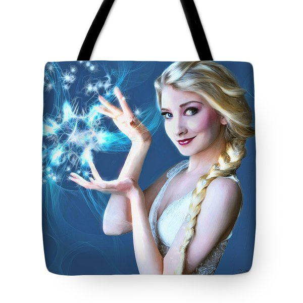 Icy Touch Tote Bag by Dave Luebbert