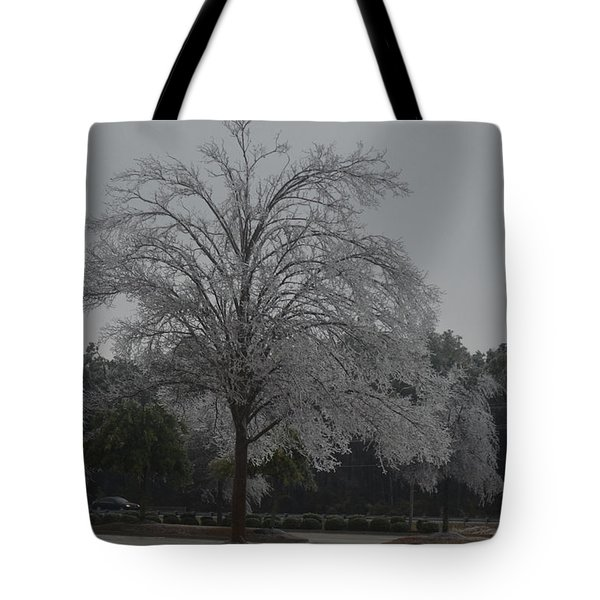 Icy Tree Tote Bag