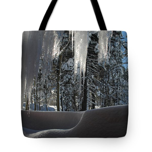 Icy Viewpoint Tote Bag by Donna Blackhall