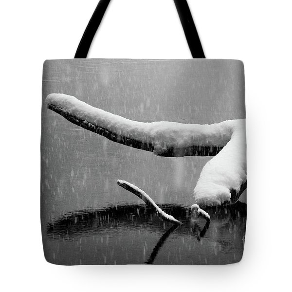 Tote Bag featuring the photograph Icy Water  by Vincent Bonafede